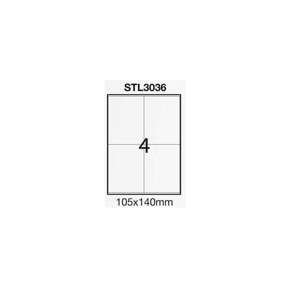 ETICHETTA ADESIVA BIANCA 100FG A4 (4 ET. 105X140mm) STARLINE