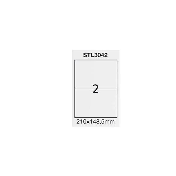 ETICHETTA ADESIVA BIANCA 100FG A4 (2 ET. 210X148,5mm) STARLINE