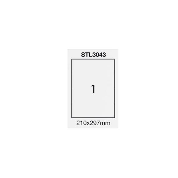 ETICHETTA ADESIVA BIANCA 100FG A4 (1 ET. 210X297mm) STARLINE