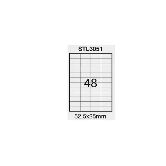 ETICHETTA ADESIVA BIANCA 100FG A4 (48 ET. 52,5X25mm) STARLINE