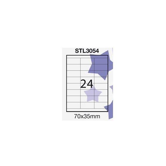 ETICHETTA ADESIVA BIANCA 100FG A4 (24 ET. 70X35mm) STARLINE