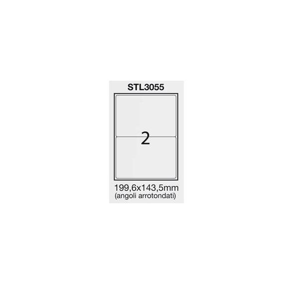 ETICHETTA ADESIVA BIANCA 100FG A4 (2 ET. 199,6X143,5mm) angoli arrot.STARLINE