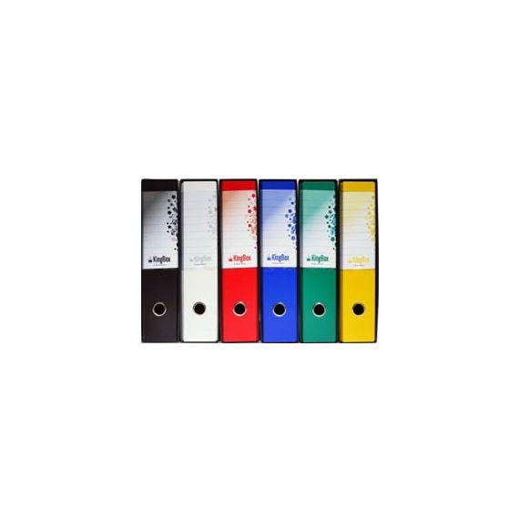 REGISTRATORE STARLINE KingBox dorso 8cm F.to protocollo - colore NERO