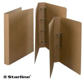 RACCOGLITORE 22X32CM 4 ANELLI D.30 SOLE FSC CARTONE ECO STARLINE