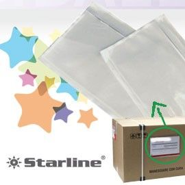 100 BUSTE PORTADOCUMENTI ADESIVA 175x130MM STARLINE