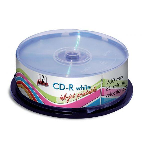 CD-R STAMPABILE INK-JET TORRE 25 CD IN LINEA