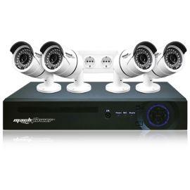 """Sistema di videosorveglianza """"VS-K4PL1-127"""" Machpower"""