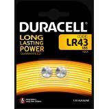 2 Pile LR43 Duracell