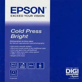 EPSON COLD PRESS BRIGHT PAPER, IN ROTOLI DA 111, 8CM X 15, 2M